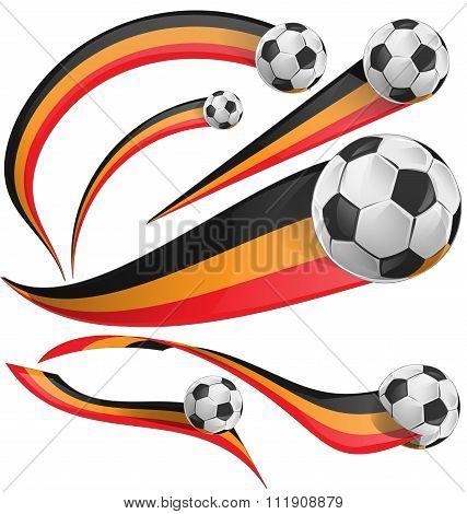 Portugal Flag Set Whit Soccer Ball [convertito]