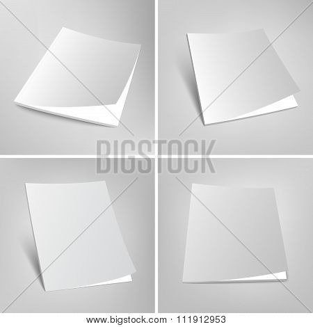 Set of blank vector magazines covers illustration.