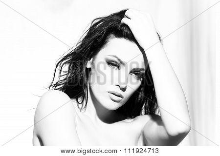 Undressed Woman Portrait