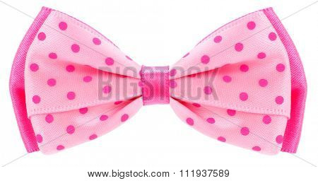 Dotted bow tie pink with spots