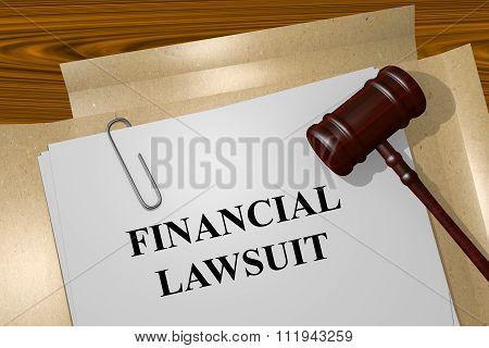 Financial Lawsuit Concept