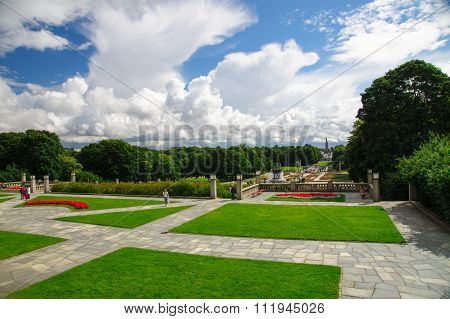 Perspective View Of Frogner Park, Oslo, Norway