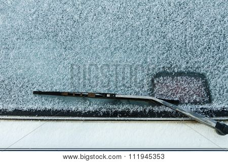 Frosted Over Rear Windshield