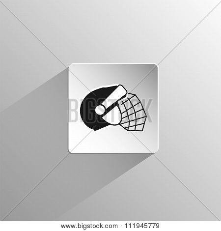 Hockey Helmet Black Icon