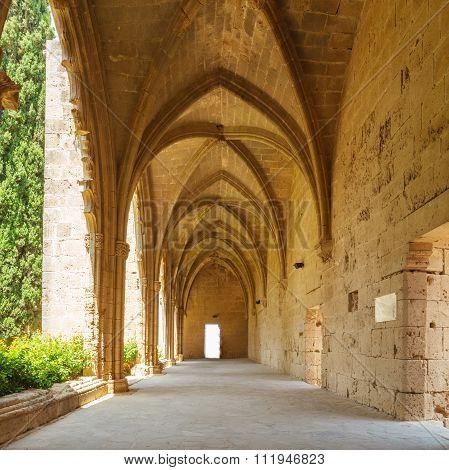 Gallery In Bellapais Abbey, Kyrenia, North Cyprus