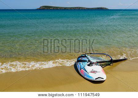 wind surfing on the beautiful beach