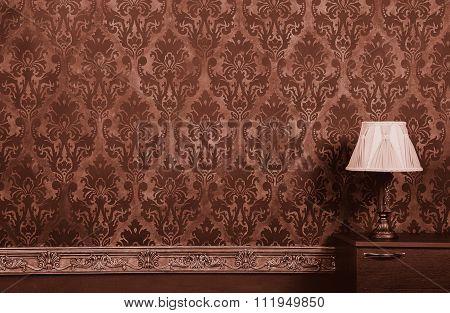 Lamp In Vintage Interior