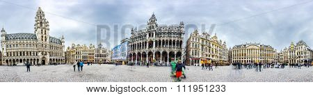 Brussels grand place panoramic montage from 16 HDR images
