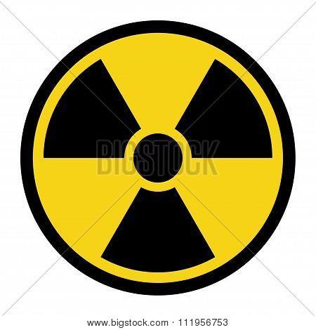 Radiation Yellow Sign