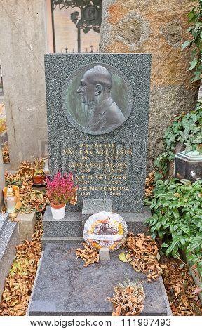 Academician Vaclav Vojtisek Tomb In Vysehrad Cemetery, Prague