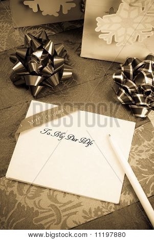 Christmas Letter To My Dear Wife