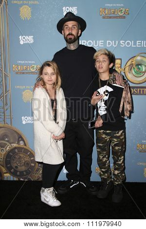 LOS ANGELES - DEC 09:  Travis Barker at the Cirque Du Soleil's