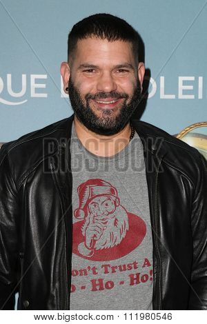 LOS ANGELES - DEC 09:  Guillermo Diaz at the Cirque Du Soleil's