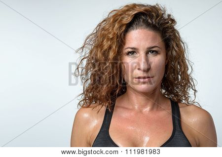 Sweaty Attractive Young Woman