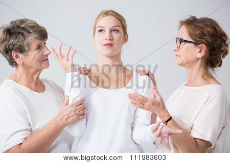 Image of support and trust between related women poster