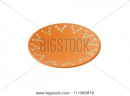 Single decorative terracotta dinner plate