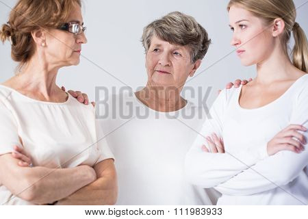 Senior Woman Resolving Conflict