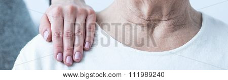 Hand On Shoulder