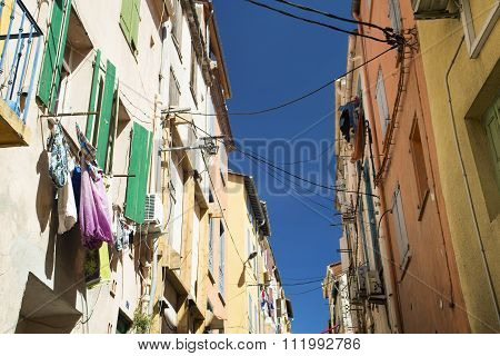 Traditional Spanish Town Street.