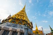 Wat Phra Kaew, Temple of the Emerald Buddha, Bangkok, Thailand. poster