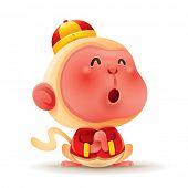 Chinese Zodiac - Monkey. Chinese New Year. Gong xi Gong xi. poster