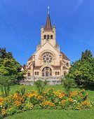 St. Paul's Church in Basel city, Switzerland. poster