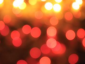 Blurred yellow and orange christmas lights