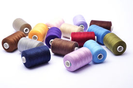 Colored Bunch Of Sewing Rolls