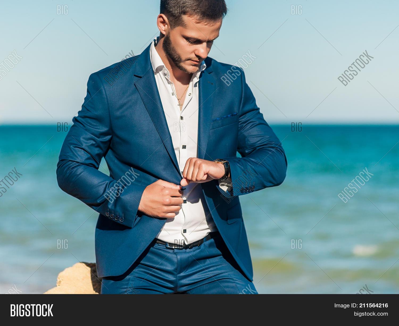 Handsome Groom Waiting Image & Photo (Free Trial) | Bigstock