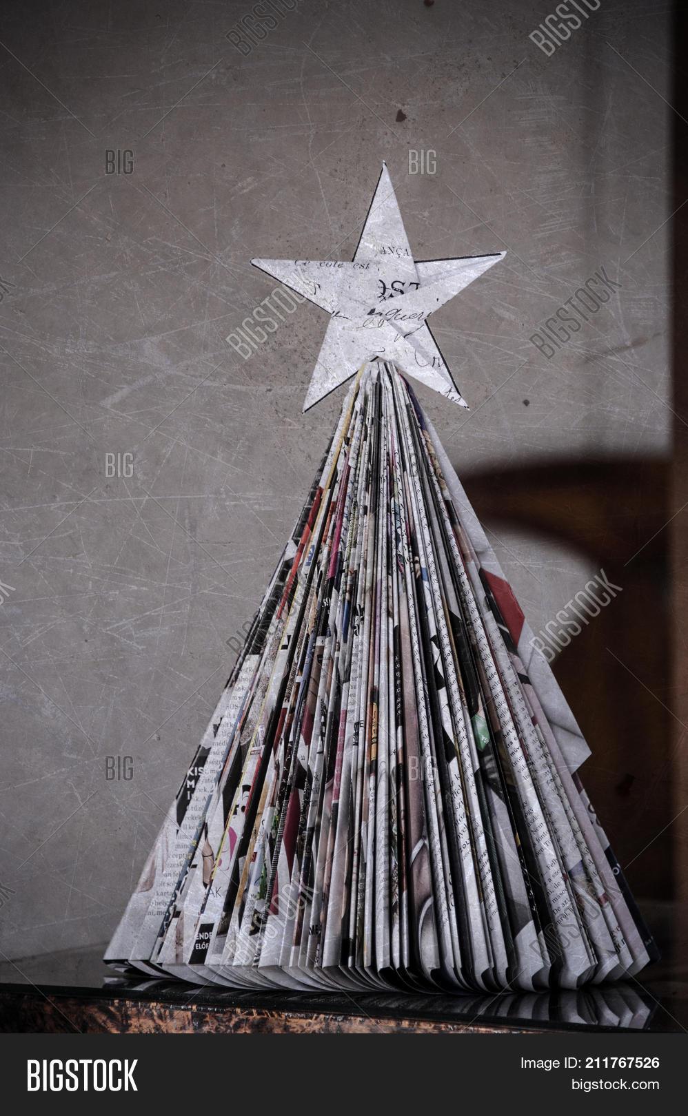 paper christmas tree image photo free trial bigstock