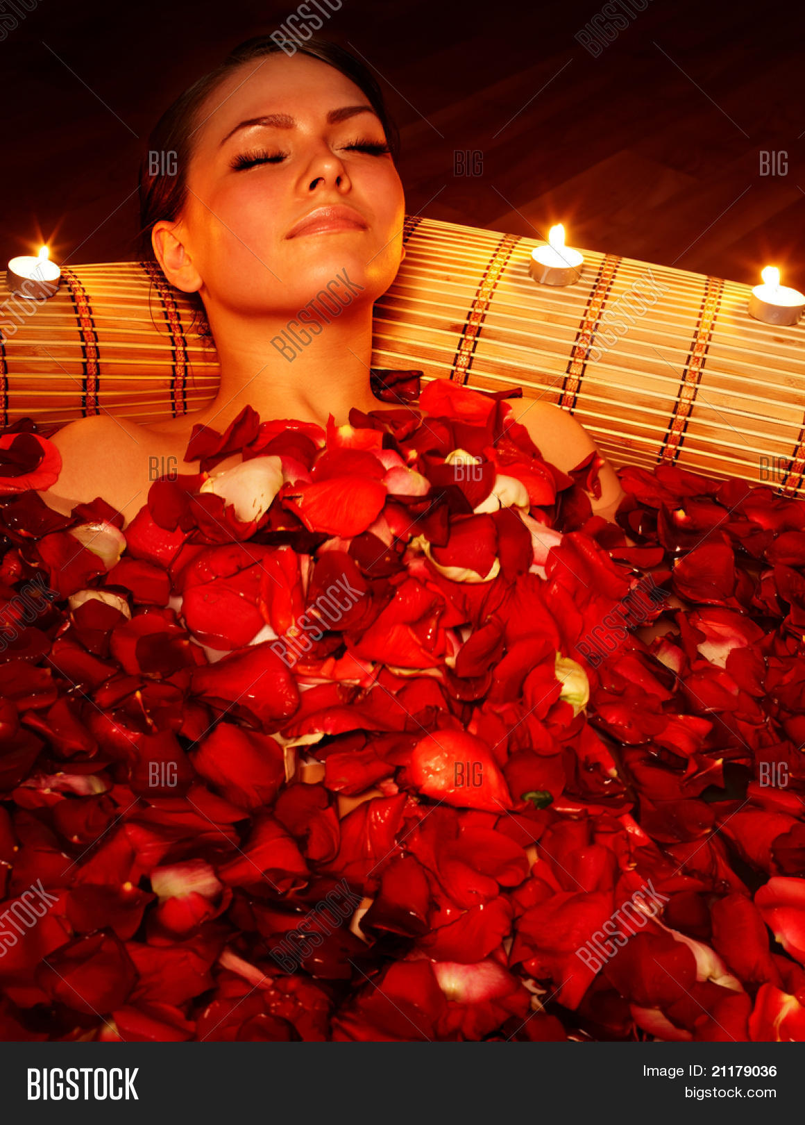 Beautiful Girl Jacuzzi Rose Petal Image & Photo | Bigstock