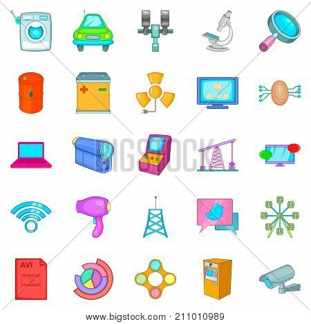 Net icons set. Cartoon set of 25 net vector icons for web isolated on white background