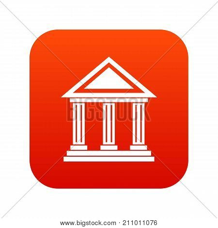 Colonnade icon digital red for any design isolated on white vector illustration