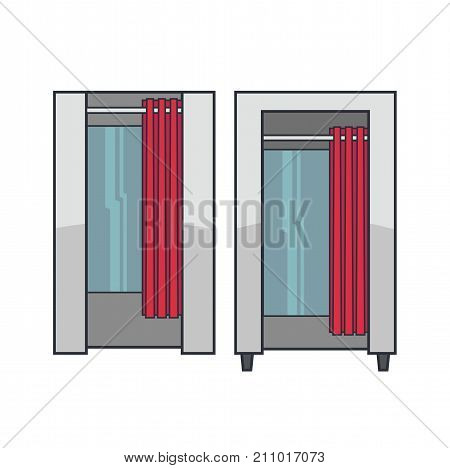 Lineart Vector Fitting Cabins
