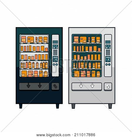Lineart Vector Vending Machines