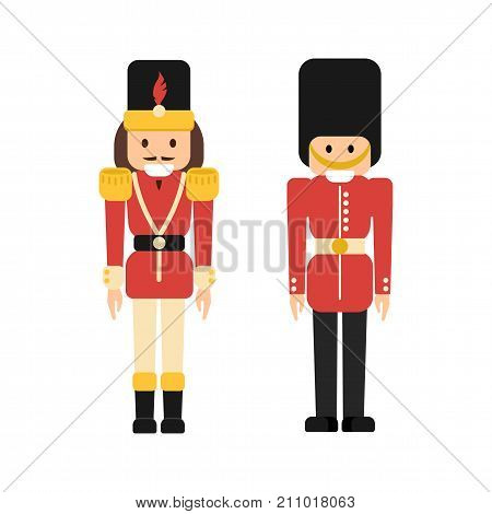 Nutcrackers Soldiers In Flat Style