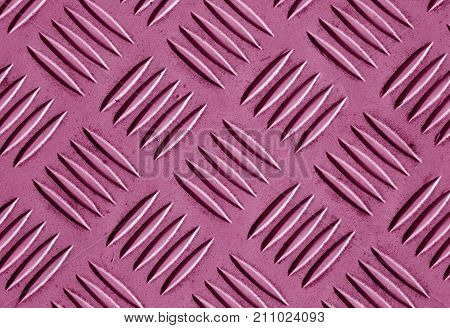 Pink Color Metal Floor Pattern