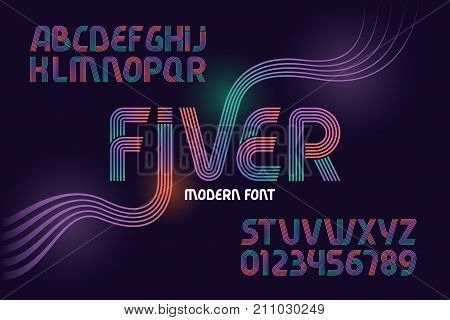Vector geometric font named
