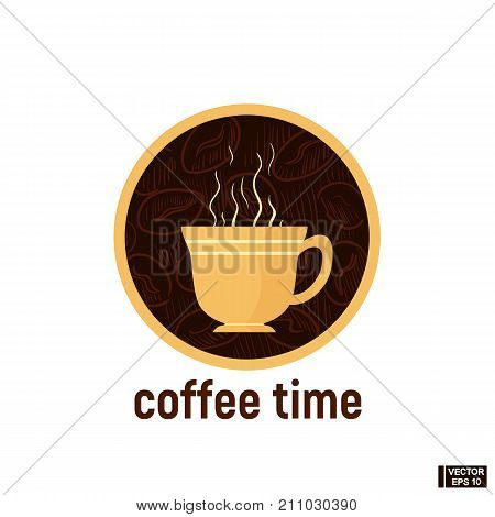 Icon Of Coffee Time.