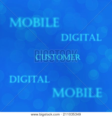 Blue bokeh Telecom mobile business texture customer concept background