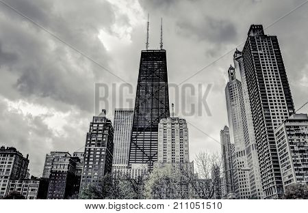 View Of The Skyscrapers Of Chicago