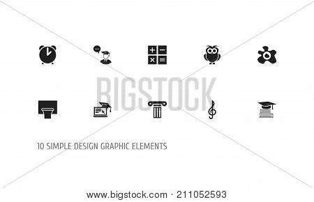 Set Of 10 Editable Teach Icons. Includes Symbols Such As Basketball, Quaver, Pillar And More