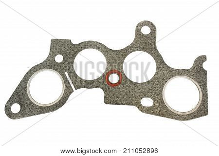 Asbestos fabric strip for connecting the exhaust manifold to the engine of the car