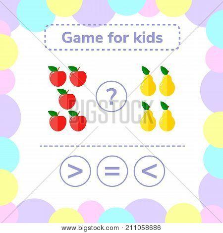 Vector Illustration. Education Logic Game For Preschool Kids. Ch