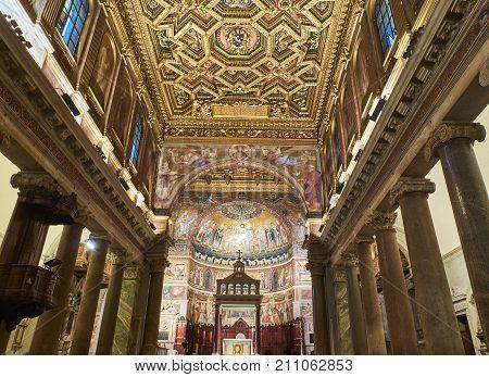 Basilica Di Santa Maria In Trastevere. Rome, Lazio, Italy.