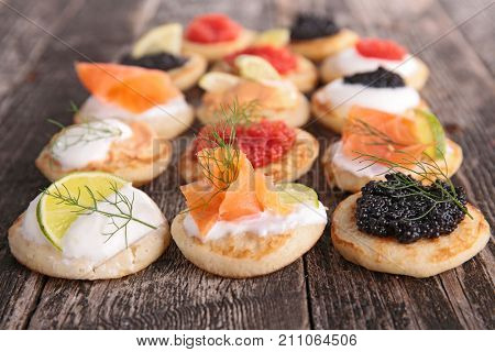 assorted canape,finger food