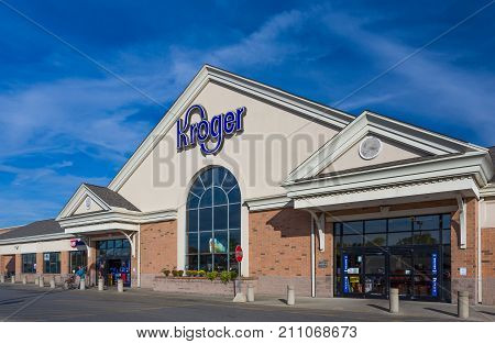 Kroger Exterior Grocery Store Store And Logo