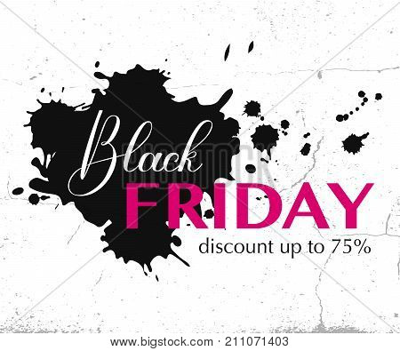 Black Friday sale typography template. Vector illustration. Black friday design sale discount advertising marketing price tag. Clothes furnishings cars food sale