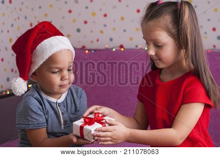 Boy Gives A Gift
