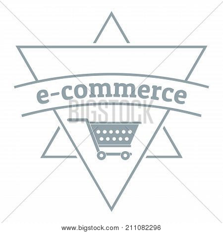 E commerce shop logo. Simple illustration of e commerce shop vector logo for web